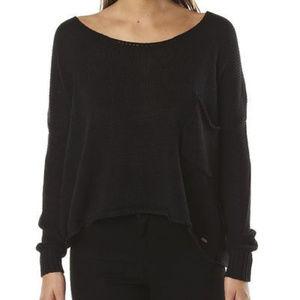 Volcom Black tipsy sweater NWT